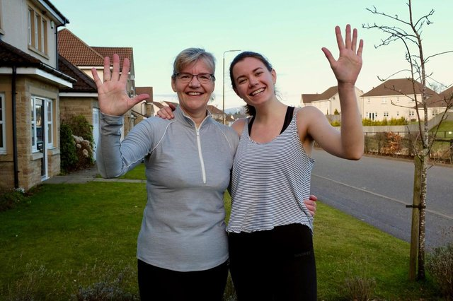 Mother and daughter running team Helen and Sarah Laing are completing a 5K a day in March to raise cash for charity