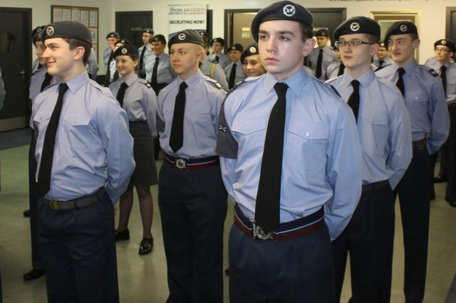 Members of Falkirk's 470 Squadron air cadets are now celebrating the unit's 80th anniversary