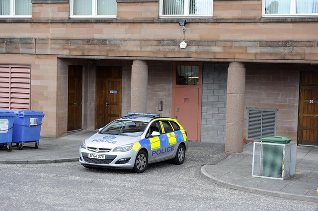 Polmont man George Merrilees appeared from custody at Falkirk Sheriff Court. Picture: Michael Gillen.
