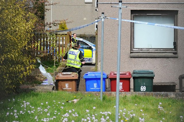 Jonathan Robert Bell, 35, is accused of murdering Jim Johnston, 39, of Bo'ness, in an alleged incident at a flat in Drumpark Avenue, around 2pm on Saturday April 17 (Photo: Michael Gillen).