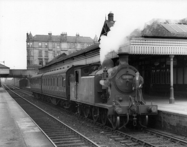 A steam locomotive at Grahamston Station.