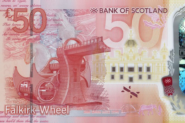 The Falkirk Wheel and The Kelpies feature on the new £50 note from the Bank of Scotland which goes into circulation in July 2021