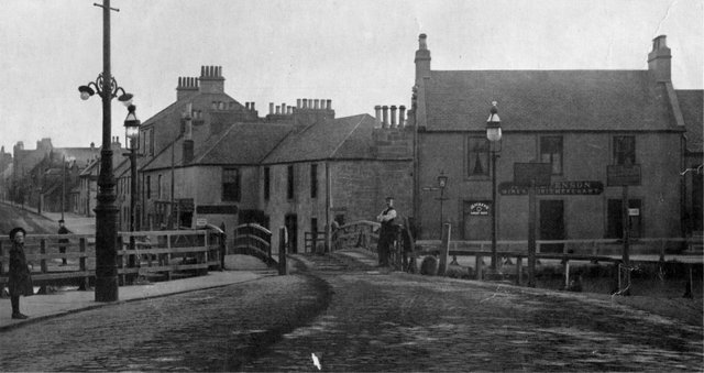 Bainsford Bridge, pictured here around 1900, has been a key junction point since the 'Great Canal' crossed the Falkirk to Carron road around 1770