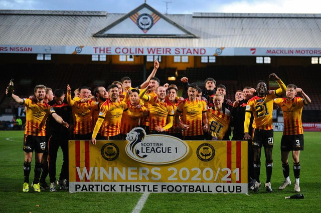 Partick Thistle lifted the title after beating Falkirk 5-0