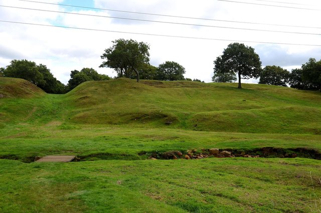 Damage to land has been found at Rough Castle in Bonnybridge. Picture: Michael Gillen.