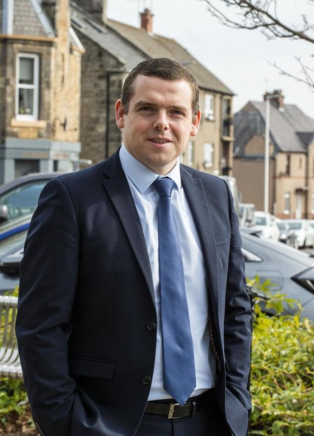 Scottish Conservatives leader Douglas Ross. Picture: Lisa Ferguson.
