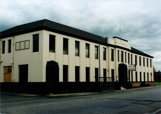 The art deco office of Falkirk Iron Company, opened in 1936 and designed byJohn G Callander, is now flats