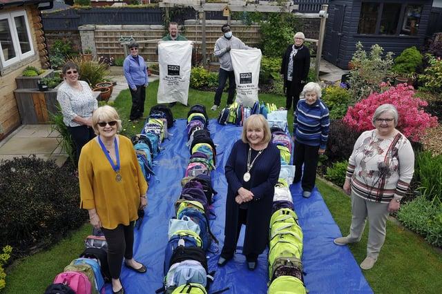 Falkirk Soroptimists hand over backpacks to Mary's Meals