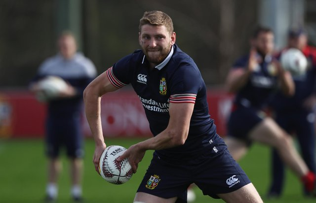Finn Russell training during the last Lions tour in 2017 (Photo by David Rogers/Getty Images)