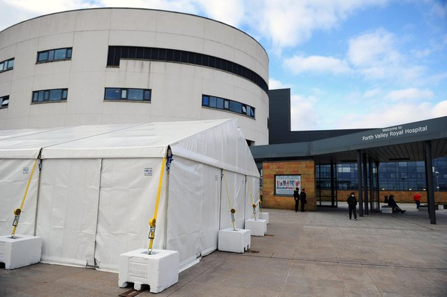 Marquees have been installed outside Forth Valley Royal Hospital so staff can enjoy their breaks in a safe ans socially distant way