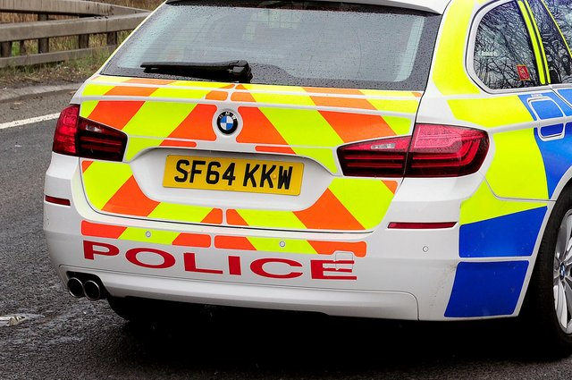 Police are in attendance at the incident on the M876 near Larbert