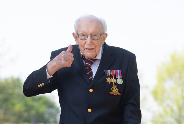 Captain Sir Tom Moore has died at the age of 100 after testing positive for Covid-19