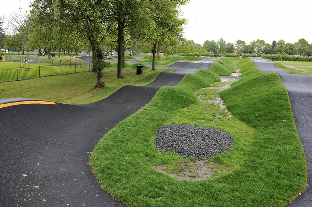 The incident happened at Zetland Park's new pump track on Sunday evening