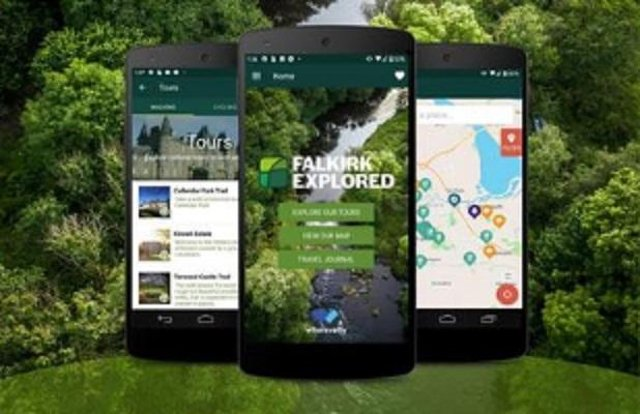 New trails have been added to the Falkirk Explored app
