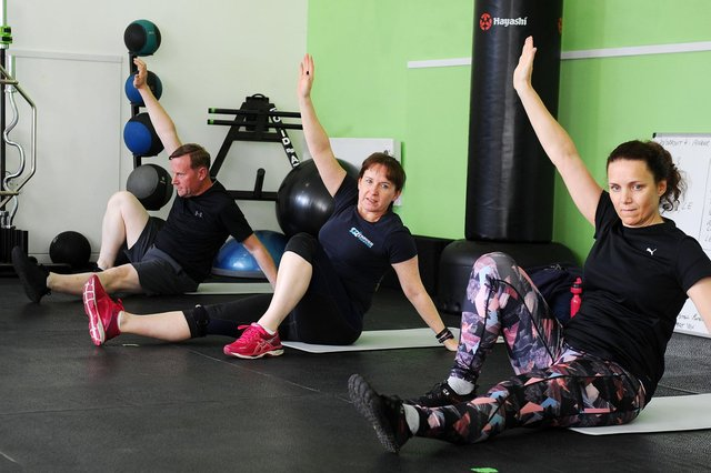 Group gym class at Rezults Personal Training & Group Fitness, Bainsford (Pic: Michael Gillen)