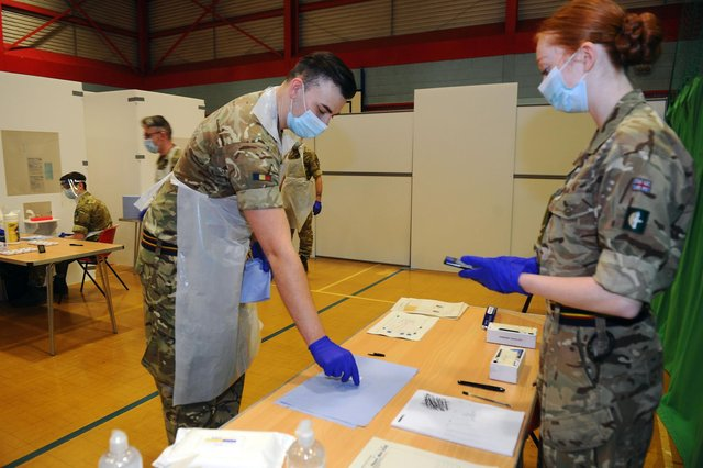 Polmont Sports Centre's new testing centre is manned by 2 Close Support Battalion REME 11 Company (2 CS Battalion REME 11 Company) which is based atLeuchars StationMilitary Barracks.(Pic:Michael Gillen)