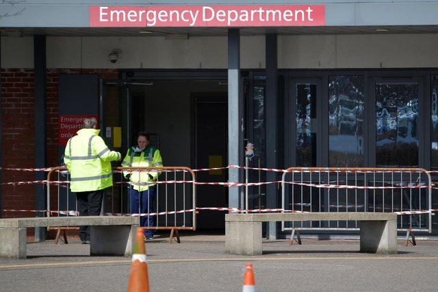 """Forth Valley Royal Hospital's A&E facility has experienced a rise in attendances by patients who """"do not require emergency care"""", according to the local health board. Picture: Michael Gillen."""