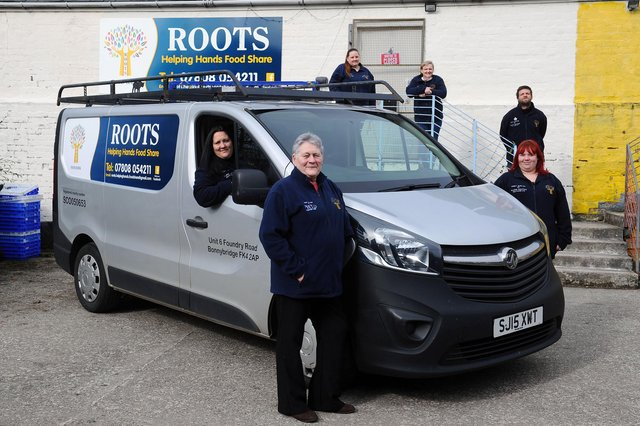 ROOTS Helping Hands Food Share volunteers received funding to buy a new van to help with their deliveries. Front: Jennifer Cochrane, secretary; Teresa Cochrane, treasurer; andGemma Douglas, parcel coordinator. Back: Arlene Graham, chairwoman; Sheralee Maxwell, parcel coordinator; andScott Douglas, handyman driver. Picture: Michael Gillen.