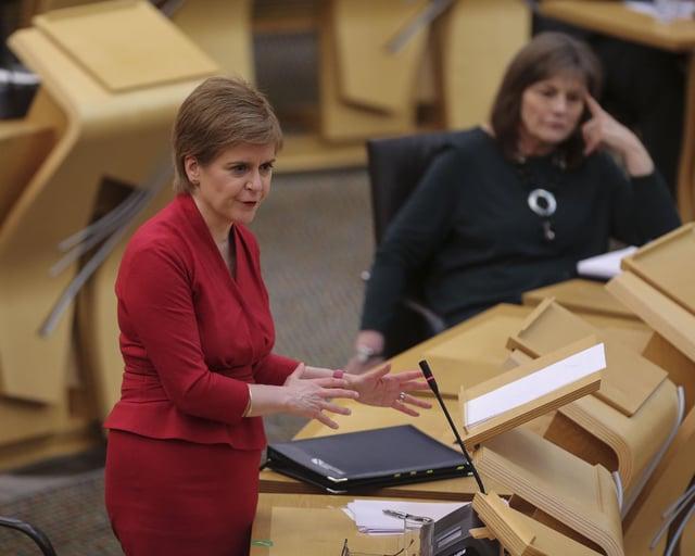 Nicola Sturgeon speaks on roadmap out of lockdown