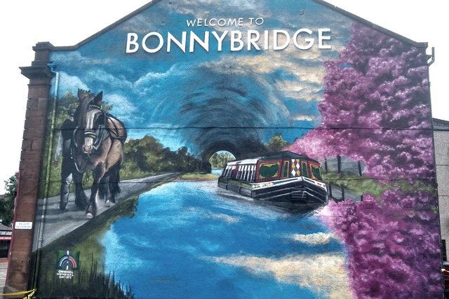 The completed Greenhill Historical Society mural in Bonnybridge. Contributed.
