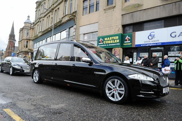 The poignant moment Alex Lawson's funeral procession passed by his former shop in Newmarket Street