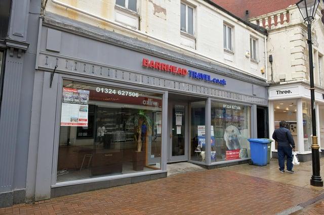 The Falkirk High Street branch of Barrhead Travel