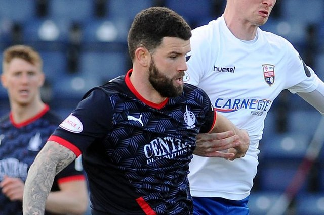 Falkirk defender Mark Durnan says the pressure is on them to win every game regardless of who they are playing