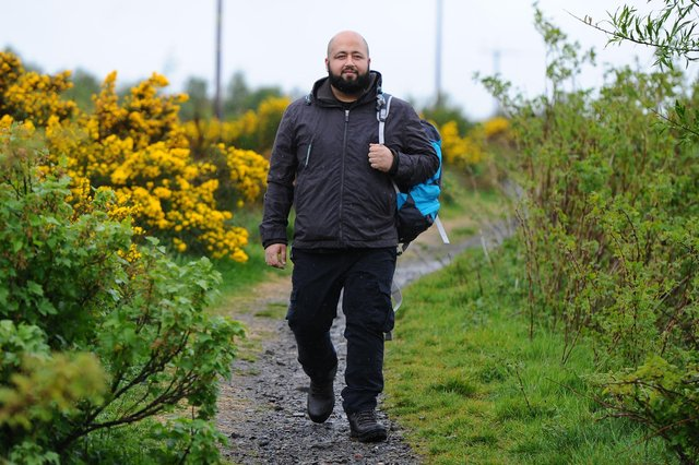 California resident Haseeb Akhtar is training for the West Highland Way and a trek of Mount Toubkal in aid of charity. Picture: Michael Gillen.