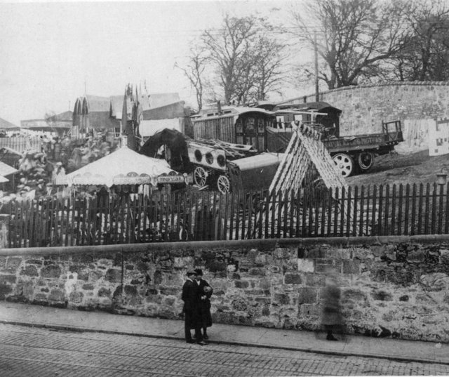 The fair in Falkirk in the early 20th century