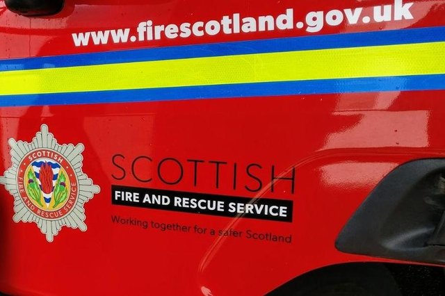 Firefighters sped to the scene of the early morning blaze in Maddiston yesterday