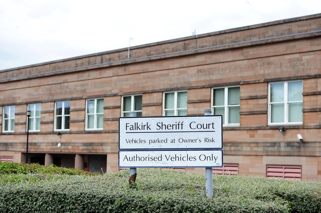 Ford appeared at Falkirk Sheriff Court on Thursday to answer for his threatening behaviour and property damage offences