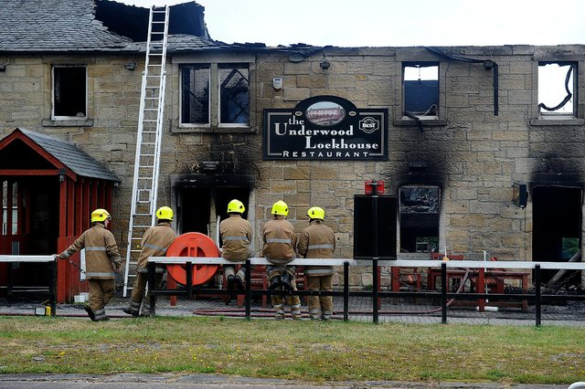 The Underwood Lockhouse burned down in a fire back in 2013
