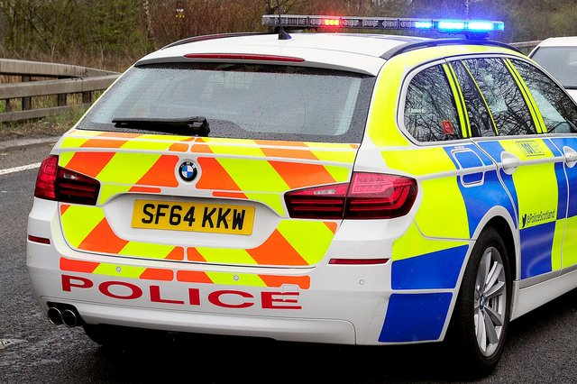 Police attended the incident on the M876 near Larbert yesterday