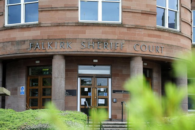 Thief Ian Kemp was fined at Falkirk Sheriff Court. Picture: Michael Gillen.