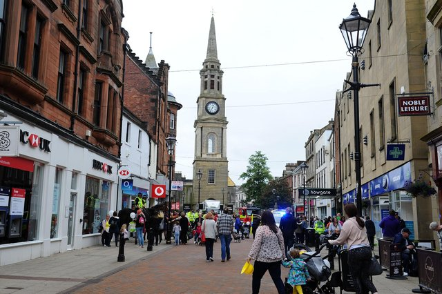 Falkirk's HSBC branch in High Street is closing for good. Picture: Michael Gillen.
