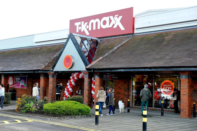 Baillie stole goods from a number of Central Retail Park stores including TK Maxx