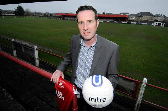 John Sludden pictured when he took over as Camelon Juniors FC manager in 2014. Picture: Alan Murray.