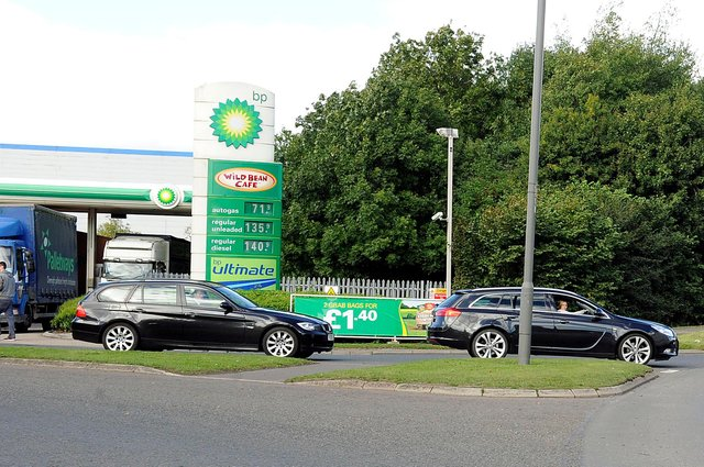 The BP service station at Earls Gate Roundabout has applied to install two new electric vehicle charging points