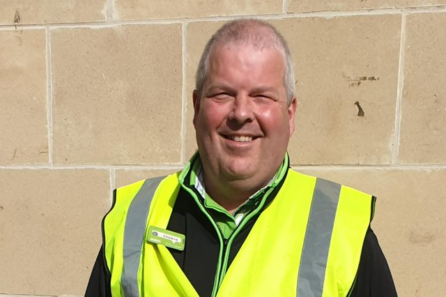 Robert Galbraith has been a familiar face inside and outside Asda's Falkirk store for 41 years