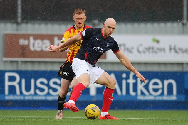 Action from Falkirk's Boxing Day League 1 clash with Partick Thistle shortly before lower league football was suspended