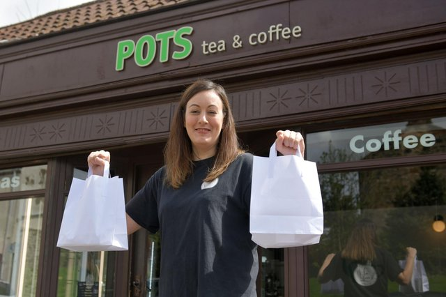 Nicky Don, owner of Pots cafe in Falkirk. Picture: Michael Gillen.
