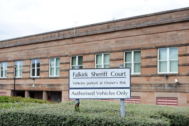 Maddiston residents Ashleigh Campbell and Ross Pearson were sentenced at Falkirk Sheriff Court. Picture: Michael Gillen.