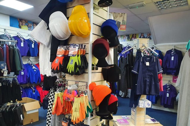 BE Uniforms in Falkirk's Vicar Street now offers a range of work wear along with school uniforms. Contributed.