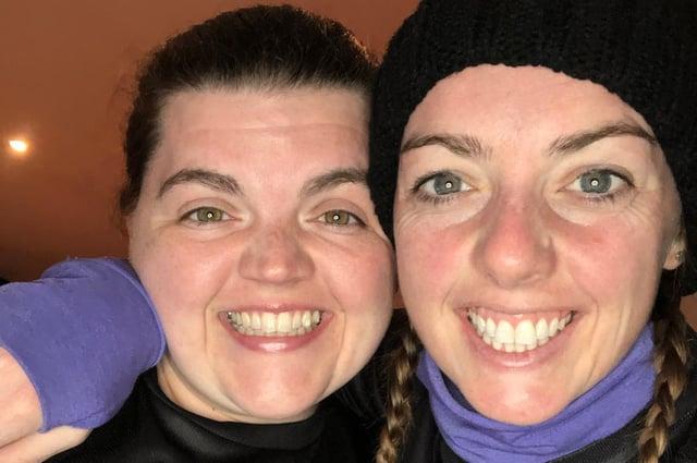 Flat mates Sarah Hutton and Kayleigh McMahon raised £1500 for SAMH with their marathon Goggins Challenge