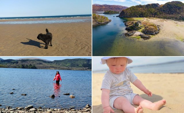 Falkirk Herald readers enjoying the recent sunny weather.