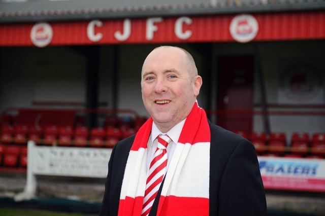 New Camelon Juniors FC chairman Gary Clark.