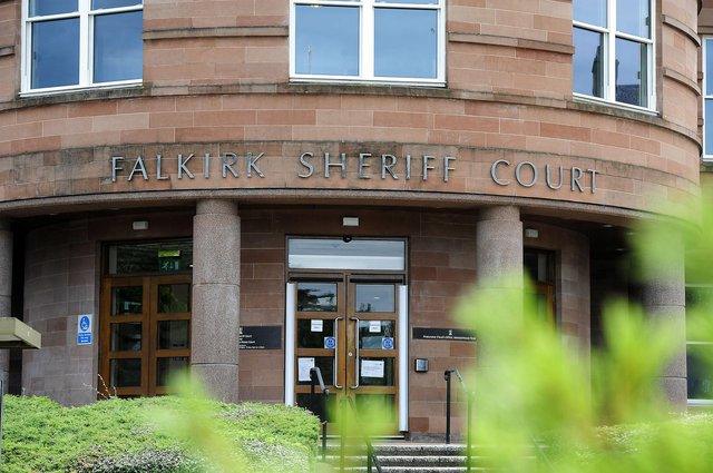 Patrick Reid appeared at Falkirk Sheriff Court from custody via video link. Picture: Michael Gillen.