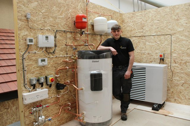 Modern apprentice Bryce William O'Neill helped create the new renewables training centre at FVC