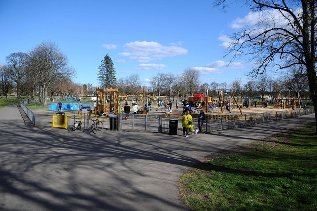 The new inclusive play area is drawing plenty of families to Zetland Park as regeneration work continues