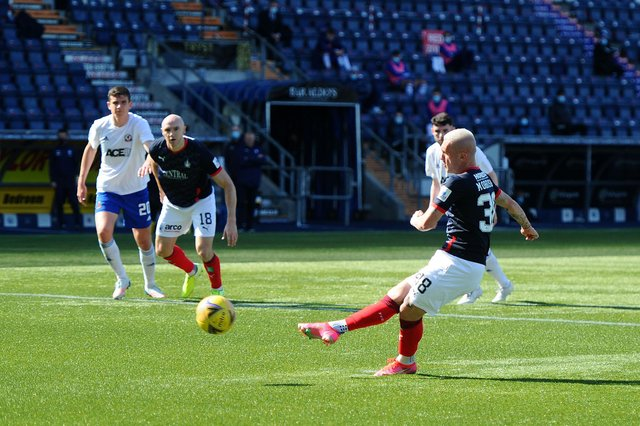 Callumn Morrison gave Falkirk the lead from the penalty spot after McKenzie brought down Alston